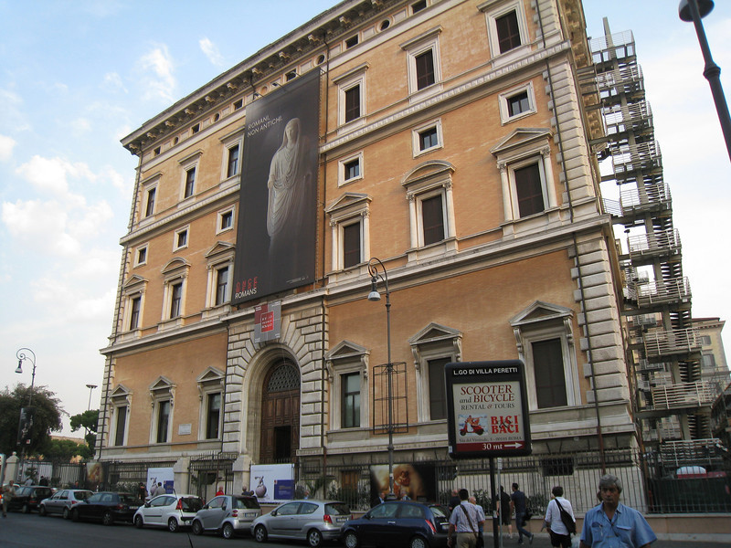 Rome - Muzeo Nazionale.  This is an exterior view of the National Museum, which was conveniently just up the street from my Hotel.