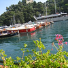 Liguria - Portofino.  Another view of the harbour area and some of the boats.