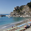 "Cinque Terre - Monterosso.  This is one of the beach areas in the ""New Town"" (Fegina).  I believe there's a charge to use the lounge chairs and Umbrellas in this particular area."