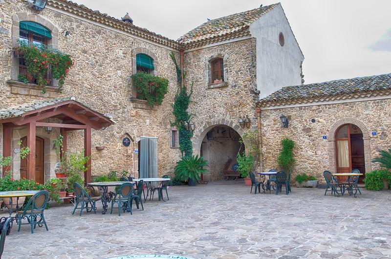 Courtyard of the Villa Gigliotta