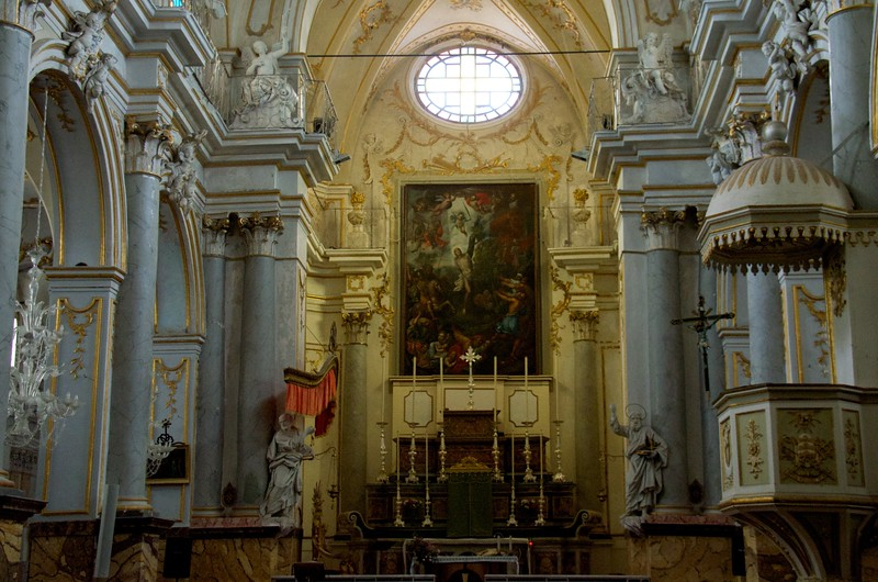 Wide Angle View of the Altar