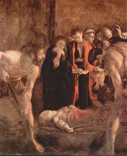 Burial of St. Lucy by Caravagiio, 1608.