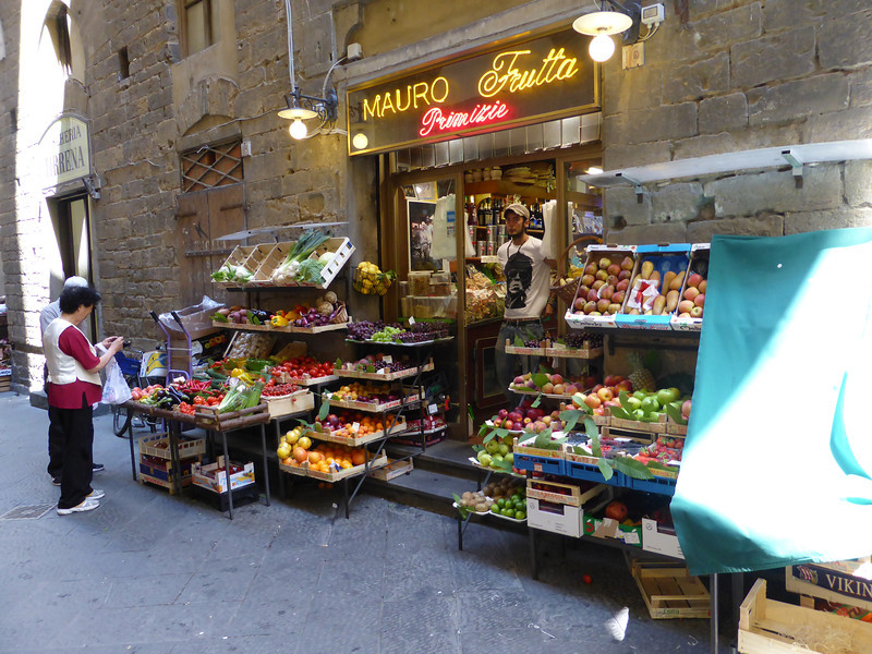 Florence - a neighborhood vegetable shop.
