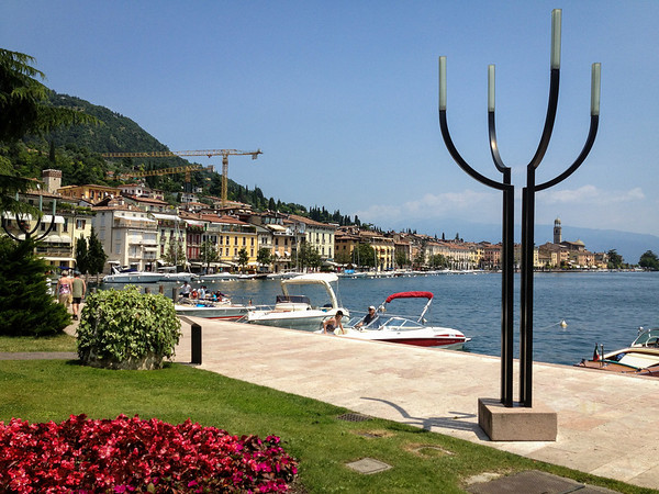 Gelato break at Salo on Lake Garda