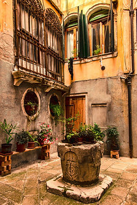 My Venice courtyard.