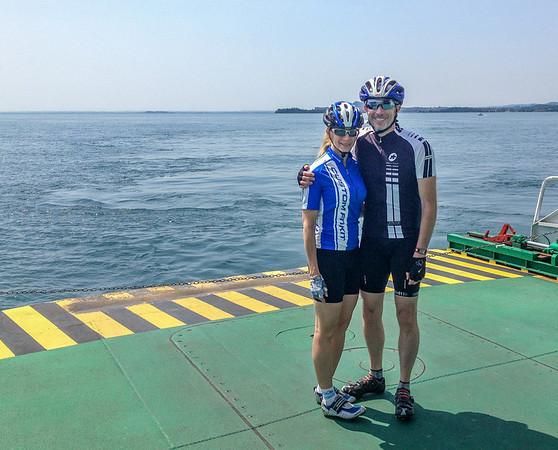 Calla & Randy on Lake Garda ferry