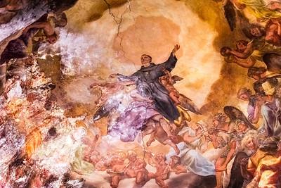 Frescos at Santa Maria Del Popolo Church.