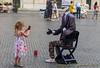 Street actor in Piazza Navona