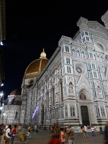 Florence - the Dome and Piazza at night.