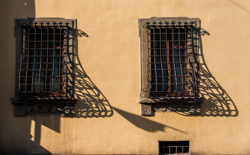Wrought iron and evening sun