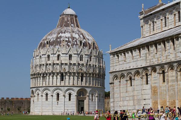 The Baptistry in Pisa