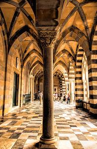 Amalfi Basilica column.