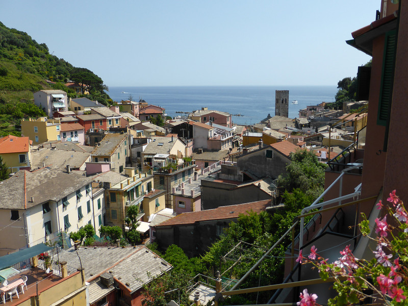Monterosso - the wonderful view from Hotel Villa Steno (I never get tired of this view).
