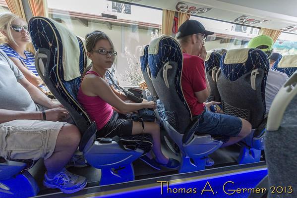On the bus to Pompeii