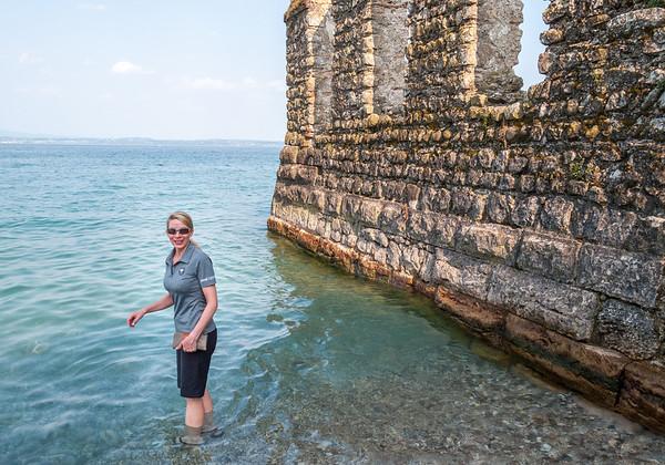 Calla wades into Lake Garda