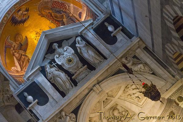 Inside the Duomo in Pisa