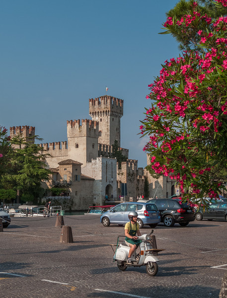 After our first ride, we cleaned up and headed into Sirmione on Lake Garda
