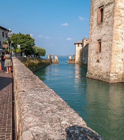 Fortress walls at south end of Lake Garda