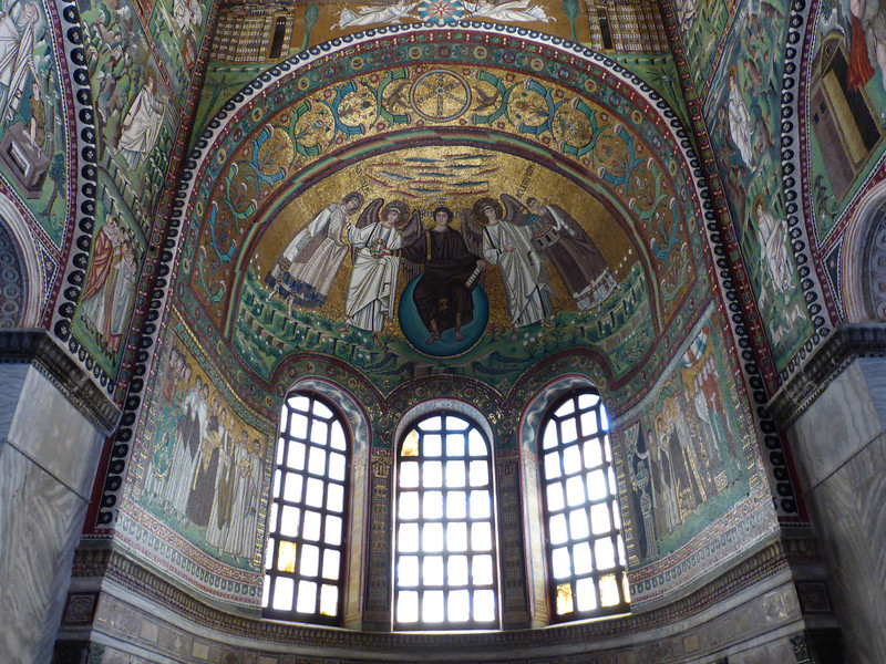 Ravenna - a closer view of some of the mosaics.