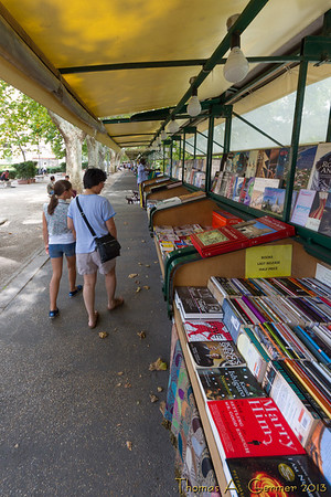 Book shops by the river