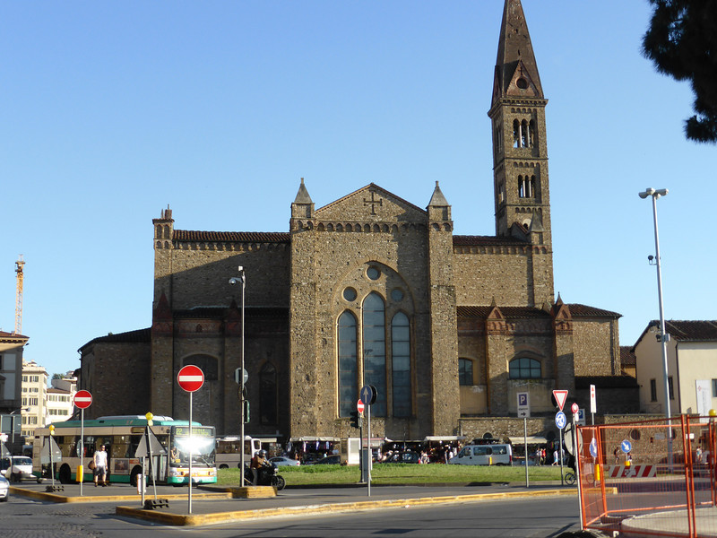 Florence - Santa Maria Novella Church, which is directly across from the main rail station of the same name.