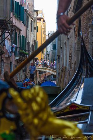 On a gondola serenade ride