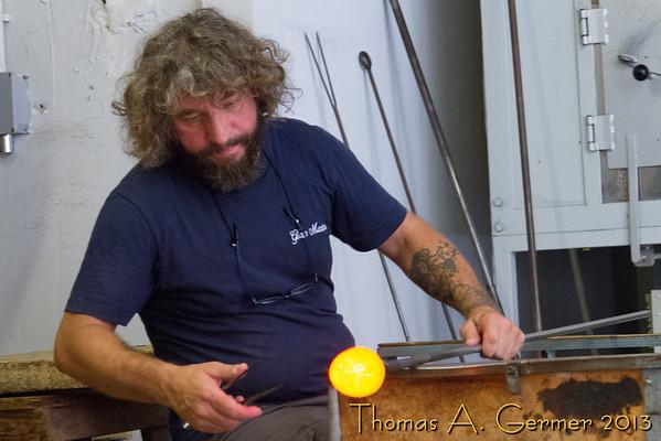 Murano glass demonstration