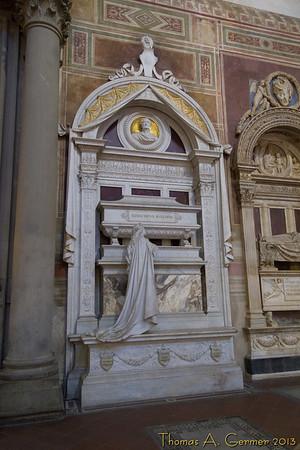 Rossini's tomb in the Basillica Santa Croce