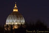 Dome of Saint Peter's Basilica, from our hotel room.