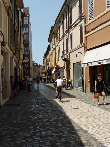 Ravenna - a quiet street in the afternoon.