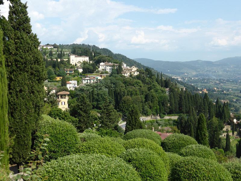 Florence - a view of some of the elegant homes in Fiesole.