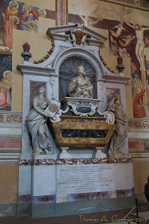 Gallileo's tomb in Santa Croce