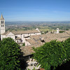 Assisi - a view of the surrounding valley from the Hotel.