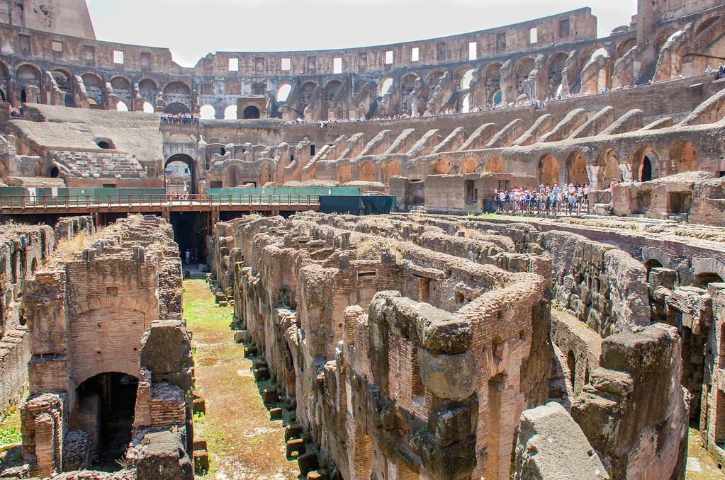 Inside the Colosseum Ruins