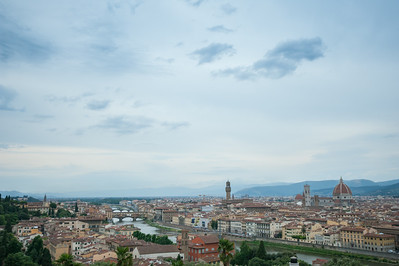 Florence at dusk.