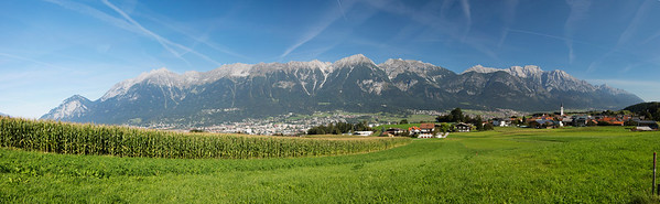 Innsbruck & Alps (12 Photo Stitched Panorama)
