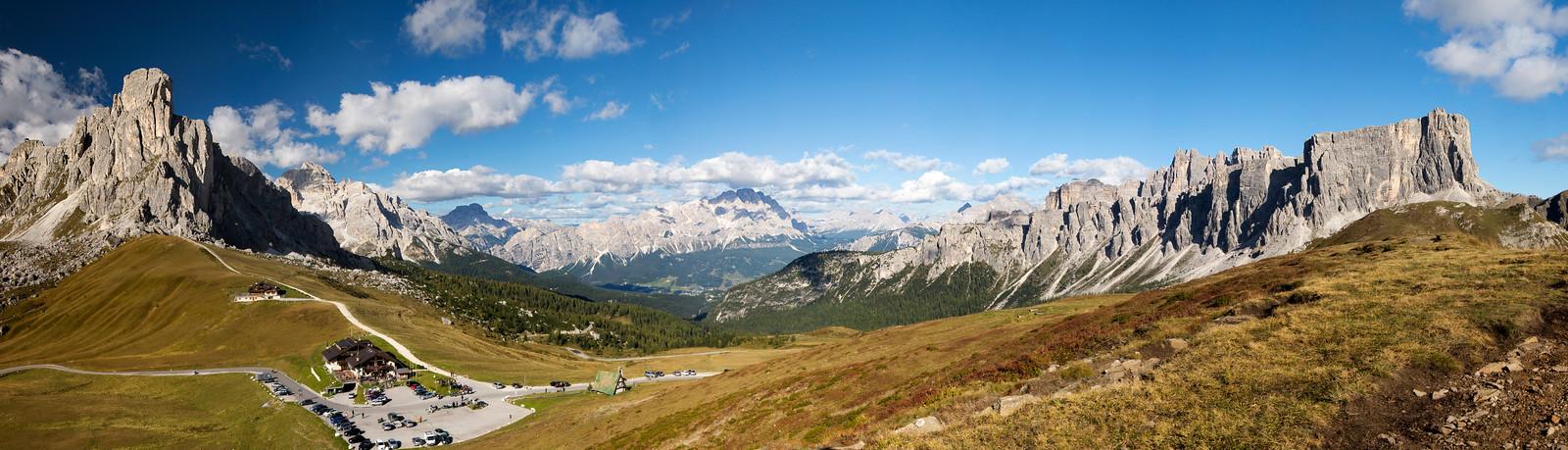 Passo di Giau (11 Photo Stitched Panorama)