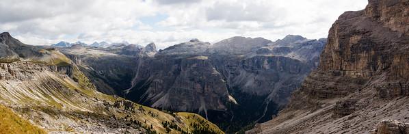 Turnaround Point Looking to Val Badia (4 Photo Stitched Panorama)