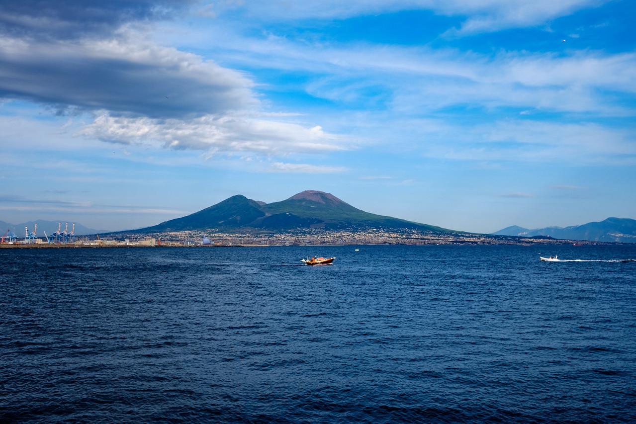 Mt. Vesuvious from Naples