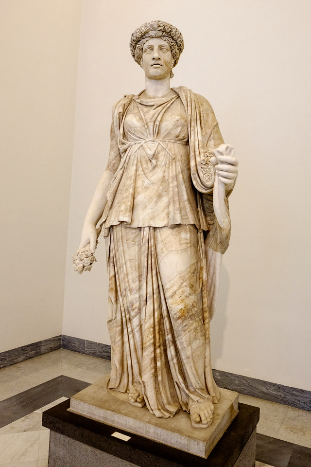 Statue from the Farnese Marbles in the Naples National Archaeological Museum