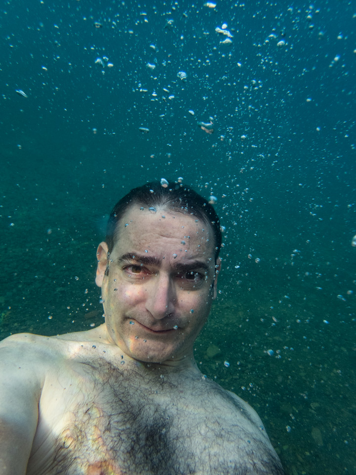 Swimming selfie