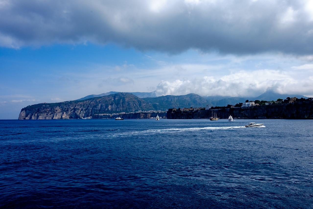 Approaching the Sorrento Peninsula via ferry
