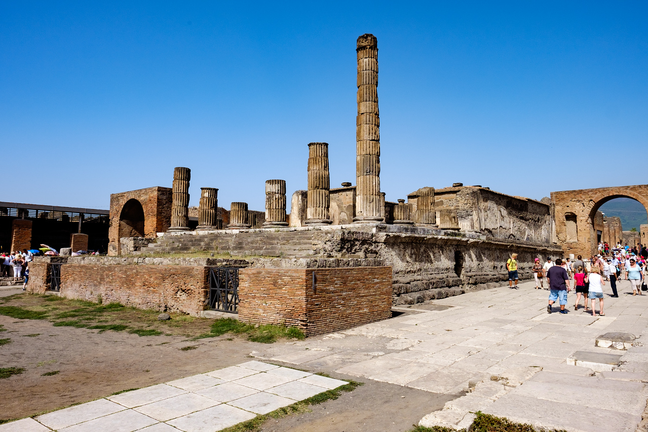The remains of the temple of Jupiter