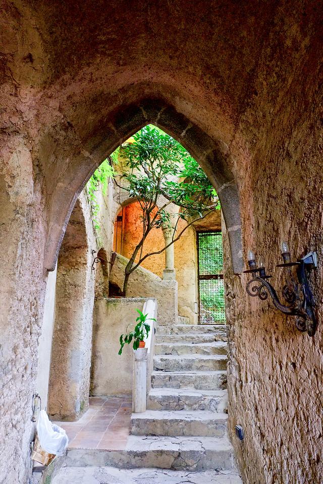 Inside Villa Cimbrone.