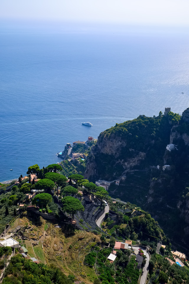 View from Villa Cimbrone towards Atrani.