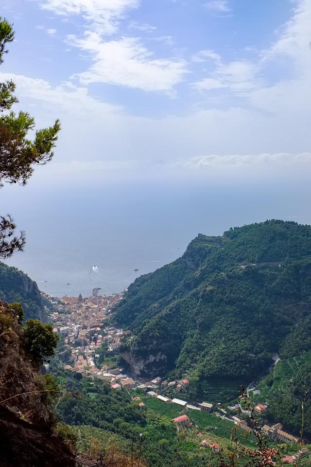 Amalfi below.