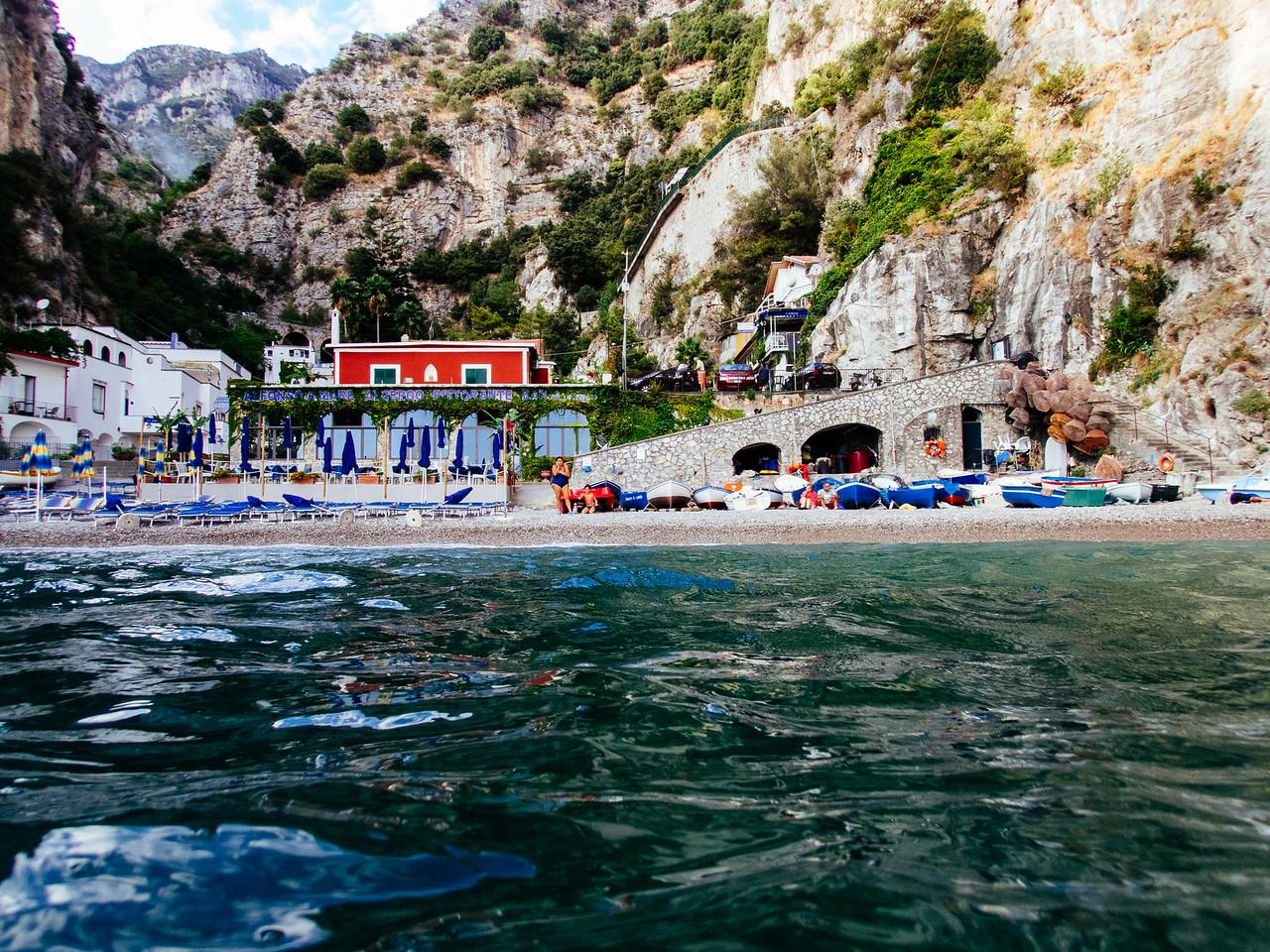 Swimming in Priano.