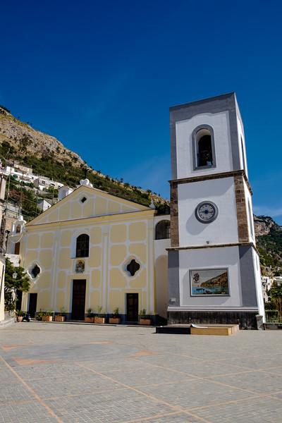 Church in the square of Priano.