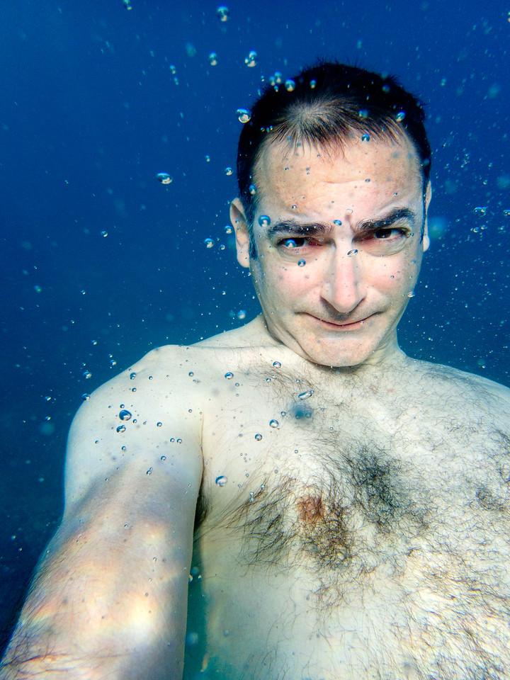 Underwater selfie.