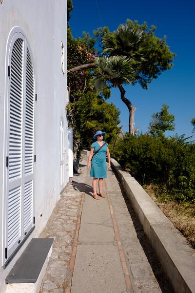 Lisa in Capri.